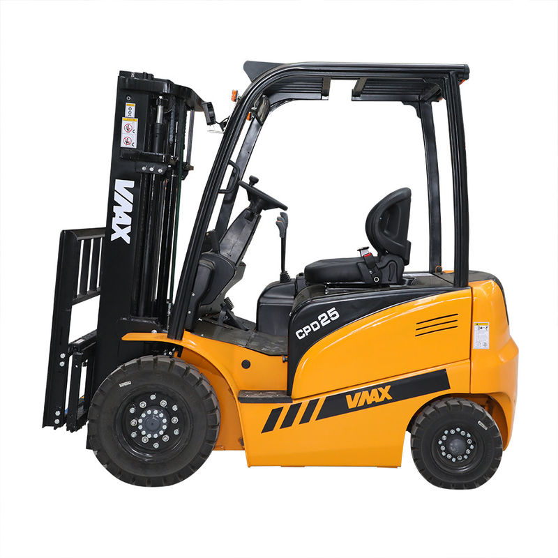 Electric 2.5T Battery Forklift Truck AC Motor For Driving / DC Motor For Lifting